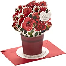 Hallmark Paper Wonder Pop Up Valentines Day Card, Displayable Bouquet (Today, Tomorrow,..