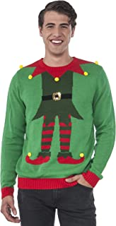 Rubie's Men's Green Elf Ugly Christmas Sweater, Multi, Medium