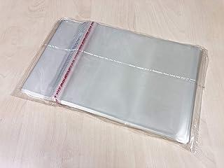 Globaldisc 100 Fundas Estuches DVD 7mm Solapa de Cierre Adhesivo Reutilizable Superficie Brillante Celofán Protección Anti...