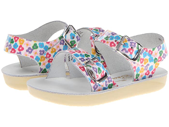 Salt Water Sandal by Hoy Shoes  Sun-San - Sea Wees (Infant/Toddler) (Floral) Girls Shoes
