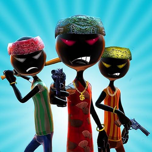 Schatten-Gangster-Superheld-Kampf-Simulator 3D: Vegas-Stadt Stickman Kriminalpolizisten gegen Polizei-kämpfende Schießen-Abenteuer-Missions-Spiele geben für Kinder 2018 frei
