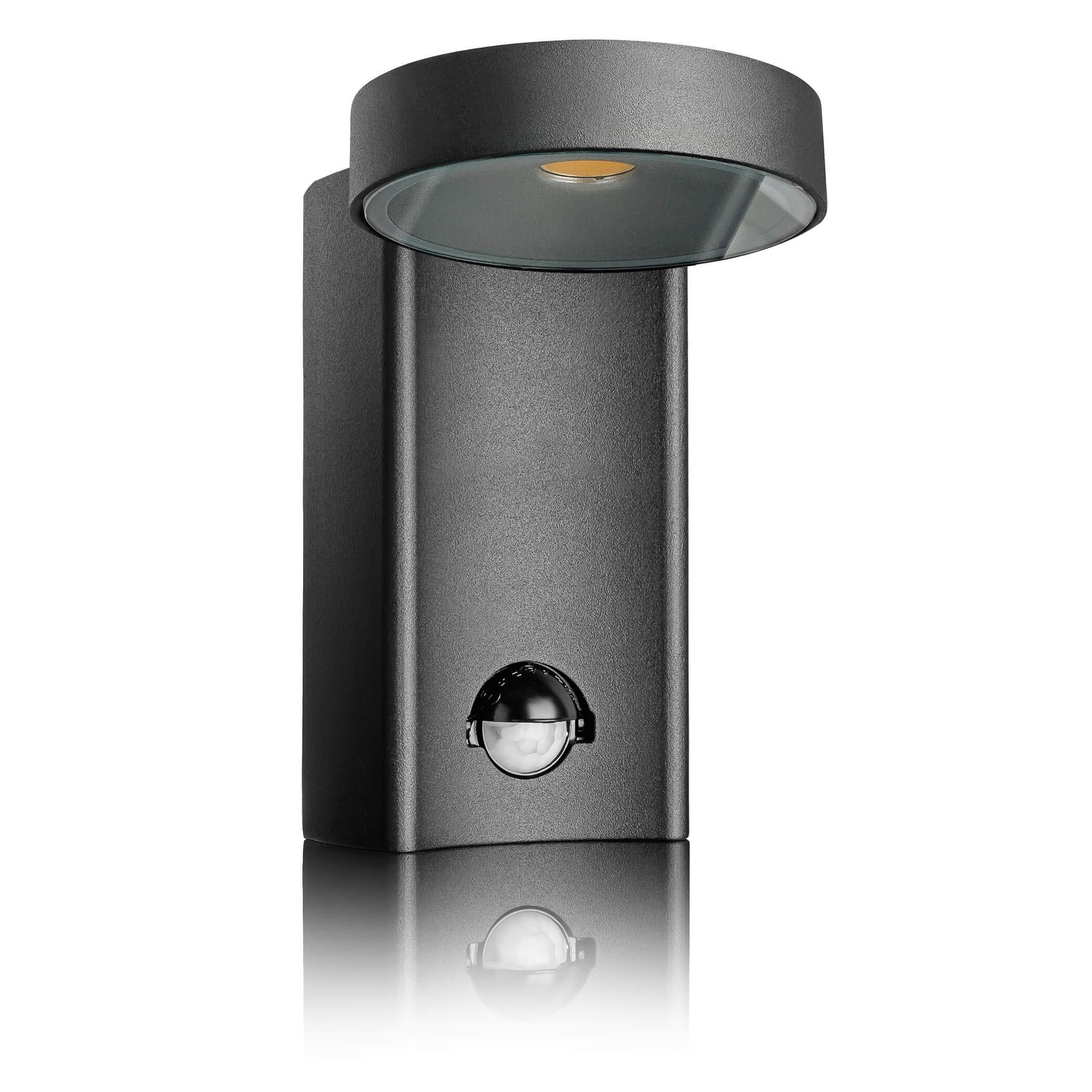 SEBSON LED Lámpara de Exterior con Sensor Movimiento, Aplique de Pared, Negro, Aluminio, 10W, 950lm, Blanco Frío 6500K, Orientable, IP54: Amazon.es: Iluminación