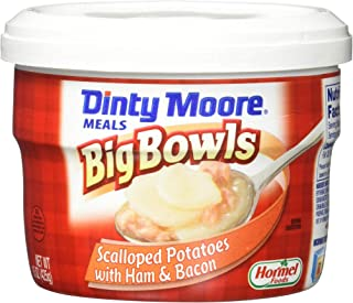 DINTY MOORE Big Microwaveable Bowl, Scalloped Potatoes and Ham, 15 Ounce (Pack of 8)