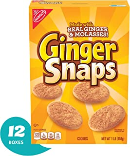 Nabisco Ginger Snaps, 1 Pound Box (Pack of 6)