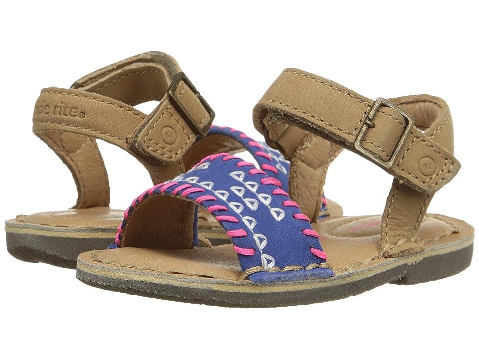 Stride Rite Filipa (Toddler) (Tan/Navy) Girls Shoes
