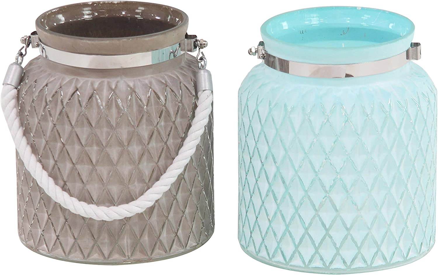 New Shipping Free Selling and selling Deco 79 39385 Candle Lantern Brown Silver White Dark