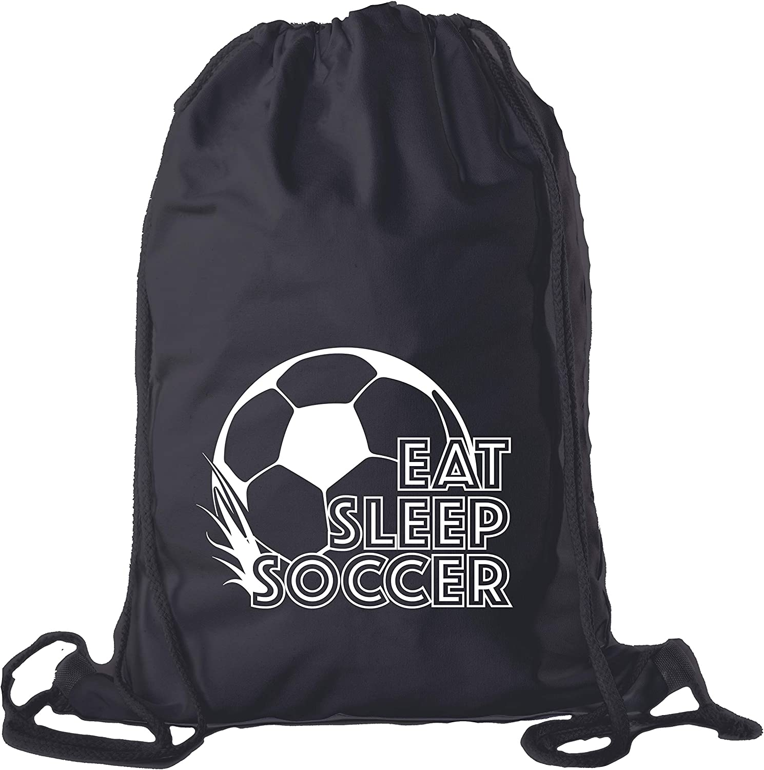 Soccer Drawstring Backpack Lightweight Cotton Socce Max 74% OFF Cinch Sack Very popular