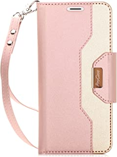 ProCase Galaxy S9 Wallet Case, Flip Kickstand Case with Card Slots Mirror Wristlet, Folding Stand Protective Cover for 5.8 Inch Samsung Galaxy S9 SM-G960F (2018 Release) -Pink