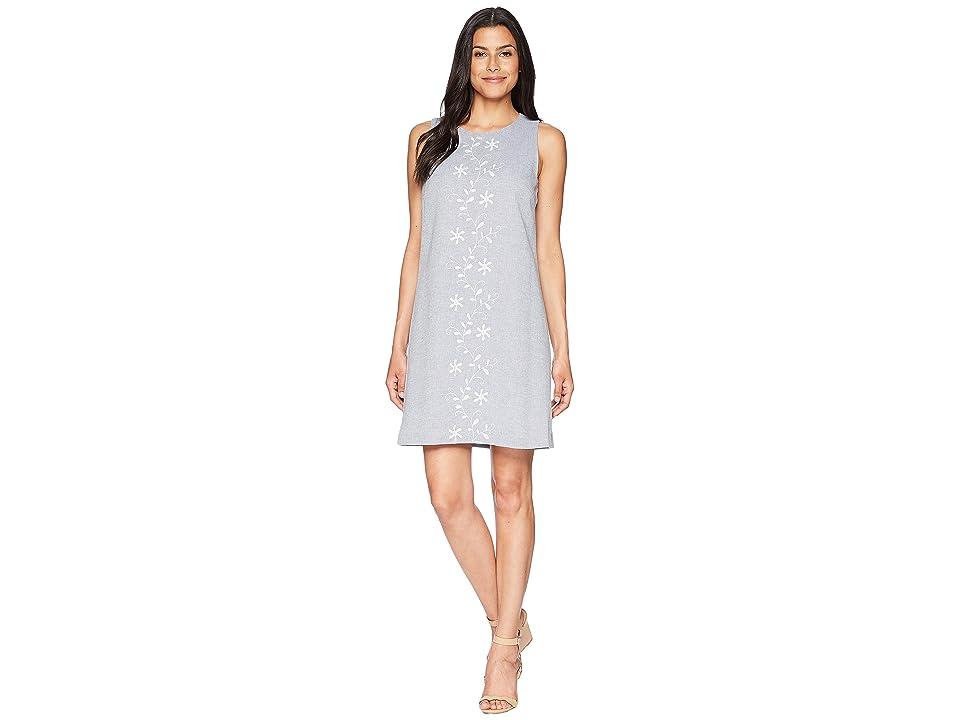 CeCe Arlington Sleeveless Linen Shirtdress (Rainfall) Women