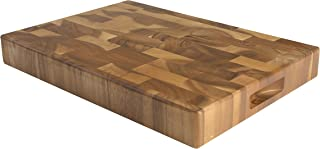 T&G Tuscany Large Rectangular Chopping Board with Finger Grooves in End Grain Acacia Wood