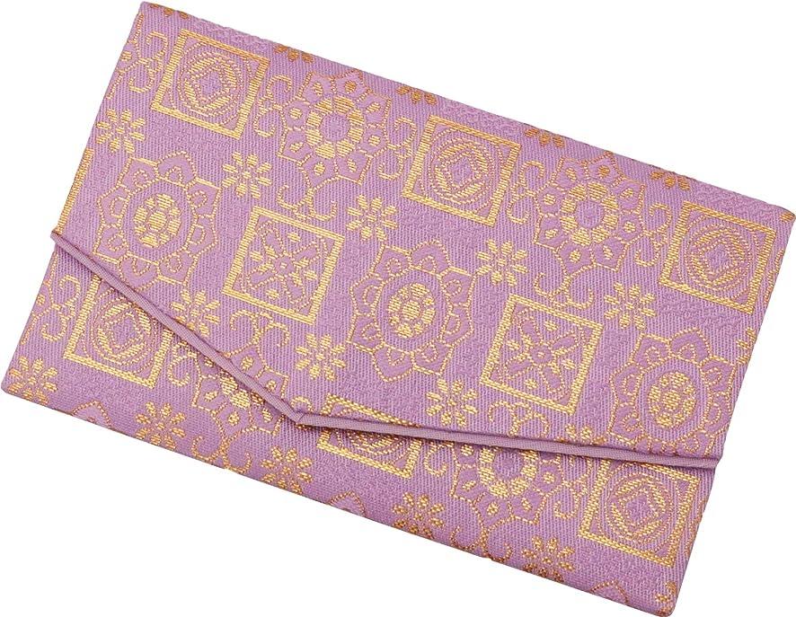 村日食定期的に彩賀工房 数珠入れ 金襴数珠袋 紫