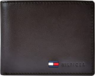 Men's Leather Slim Bifold Wallet with Coin Pocket