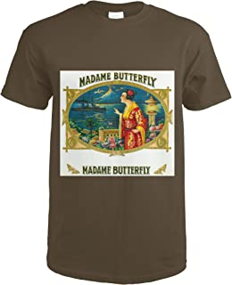 Madame Butterfly Brand Cigar Outer Box Label 27626 (Dark Chocolate T-Shirt XX-Large)