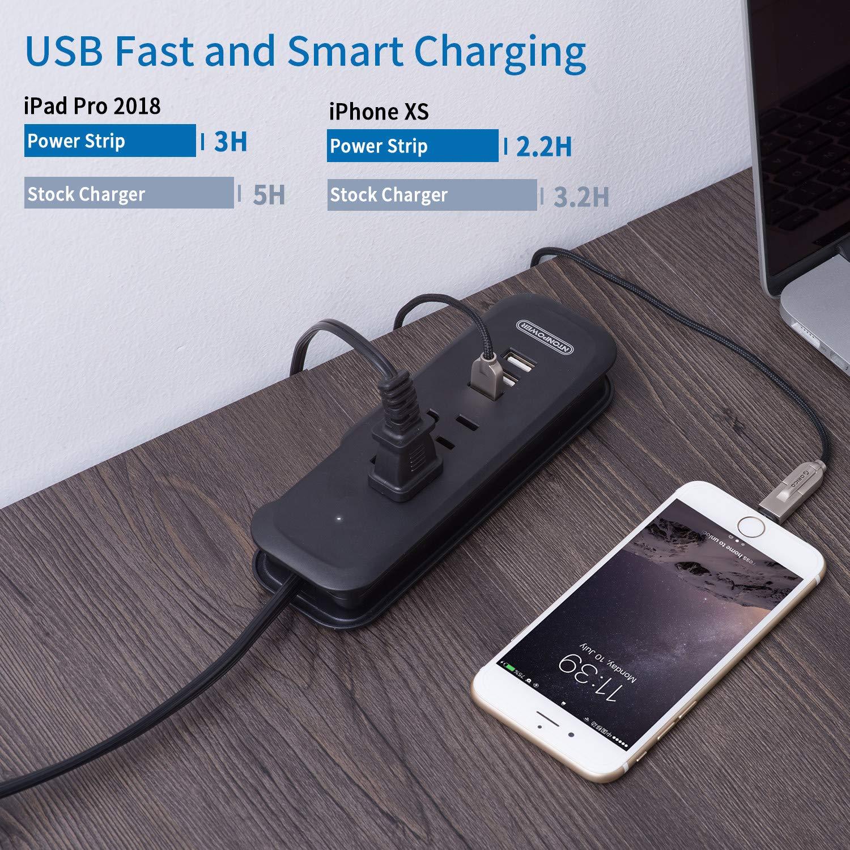 Extension Lead Avec USB Slots Support Mural Et Vis inclus ntonpower...