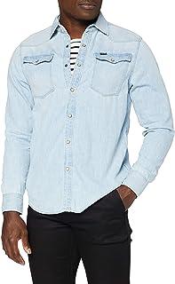 G-STAR RAW Omohundro Hooded Zip Knit Camisa Vaquera para Hombre