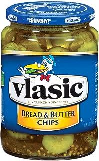 Vlasic Bread & Butter Pickle Chips, 24 oz. Jar (Pack of 12)