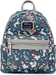 Loungefly Disney Dogs Mini-Backpack Handbag All Over Print Lady Tramp Dalmatians