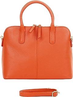 54b67802d3 Primo Sacchi Italian Textured Leather Hand Made Bowling Style Handbag Tote  Grab Bag Shoulder Bag