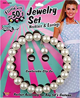 Forum Novelties Inc - 50's Pearl Necklace and Earrings Set