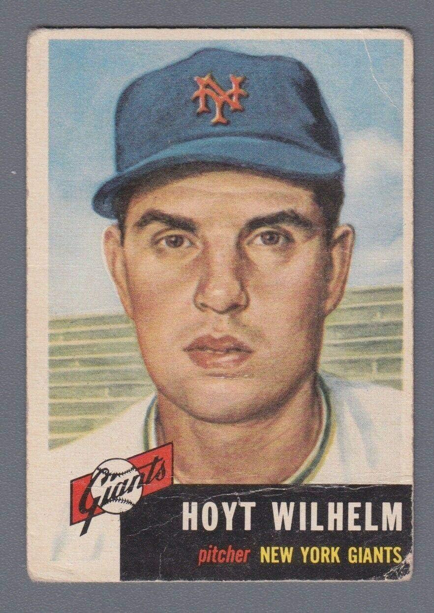 1953 Topps #151 Hoyt Wilhelm Quantity limited New York G Portland Mall Card Low Baseball Giants