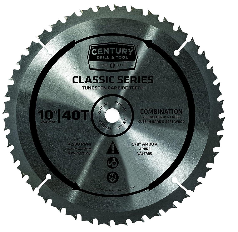 Century Drill & Tool 9934 Classic Series Combination Circular Saw Blade, 10