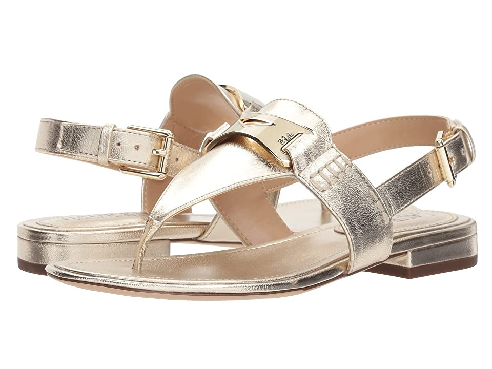 LAUREN Ralph Lauren Dayna (Platino Metallic Leather) Women