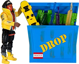 """Fortnite Solo Mode Figure & Supply Crate Collectible Accessory Set Bundle - Features 4"""" Bone Wasp, Supply Crate, Back Boar..."""
