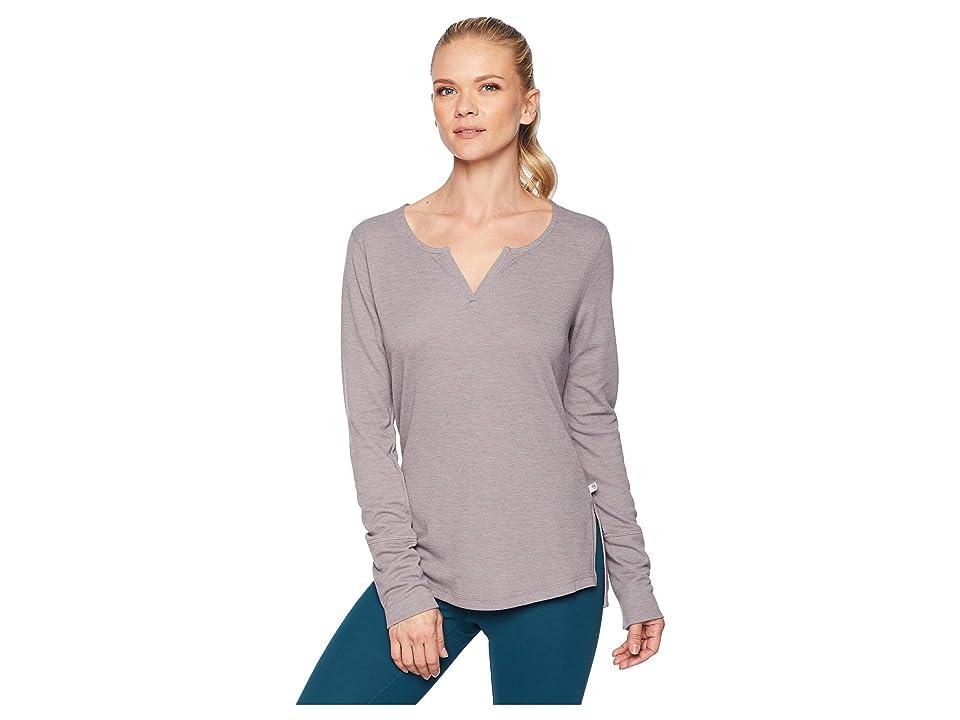 Mountain Hardwear Daisy Chaintm Split Neck Long Sleeve Shirt (Mystic Purple) Women