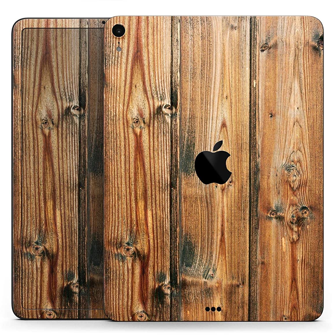 Vertical Raw Aged Wood Planks - Full Body Skin Decal for The Apple iPad Pro 12.9-inch 1st gen - (A1584/A1652)