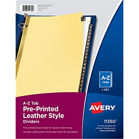 25//Pack-AVE01056 White Avery-Style Legal Side Tab Divider Avery 01056 Letter Title: 56