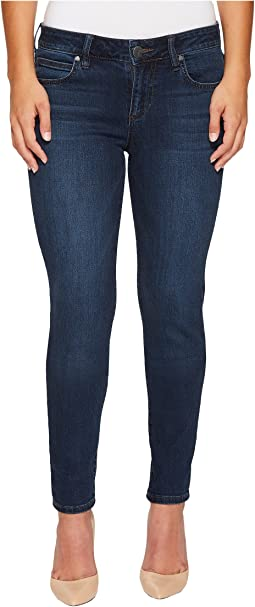 KUT from the Kloth - Petite Diana Kurvy Skinny in Saintly w/ Dark Stone Base Wash