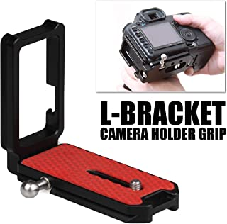 Carry Speed Quick Release L Bracket with Arca Swiss Compatible with 1/4'' Threaded Mounting Holes for DSRL Canon Nikon Camera and Tripod Head (Size L)