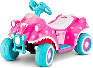 Kid Trax Disney Minnie Mouse Quad 6V Battery-Powered Ride-On Toy (Renewed)
