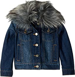Denim Jacket with Faux Fur Collar (Toddler)
