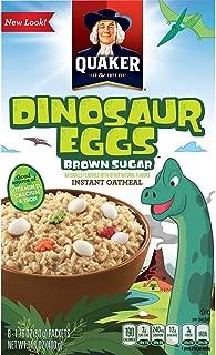 Quaker Dinosaur Eggs! Brown Sugar Instant Oatmeal, 8 Servings, 14.1 oz Box (2.
