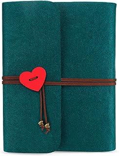 ONEDERZ Album de Fotos para Pegar y Escribir, Página Negra Album Fotos Scrapbook, Amor Álbumes de Fotos Fieltro Boda Album de Carpeta, Ideas Romanticas para San Valentin