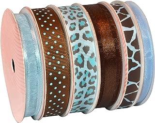 Morex Ribbon 6-Pack Polyester/Nylon Sweet Petite Ribbon, Blue Animal, 34-Yd