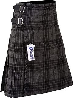 Men's 8 Yard Deluxe Scottish Tartan Kilt, Highland Wedding Kilt