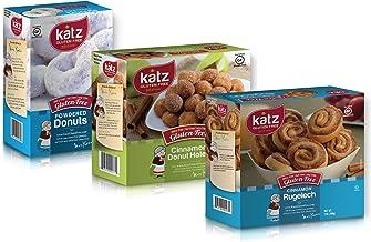 Katz Gluten Free Variety Pack | 1 Cinnamon Rugelach, 1 Powdered Donuts, 1 Cinnamon Donut Holes | Dairy Free, Nut Free, Soy...