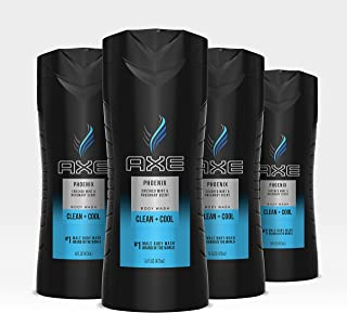 AXE  Phoenix Men's Body Wash For a Clean and Fresh feel Body, Face and Hair Dermatologist Tested 16 oz, 4 count