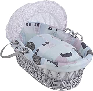 cuna Belily Juego para mois/és equipamiento para: Cuna de cesta con rieles y sin rieles . dosel y protector de cabeza carro de cesta ropa de cuna