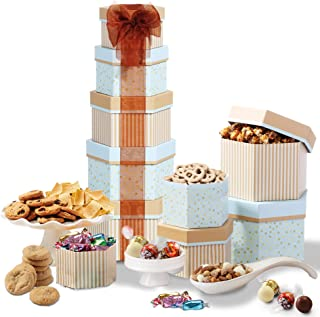 Broadway Basketeers Holiday Chocolate and Sweets Gift Tower