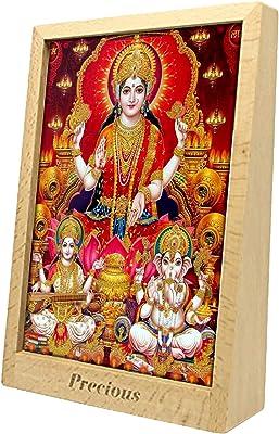 PixArt Goddess Religious Frame/Shree Laxmi Ganesh Photo with Frame/Shubh Diwali/Happy Diwali