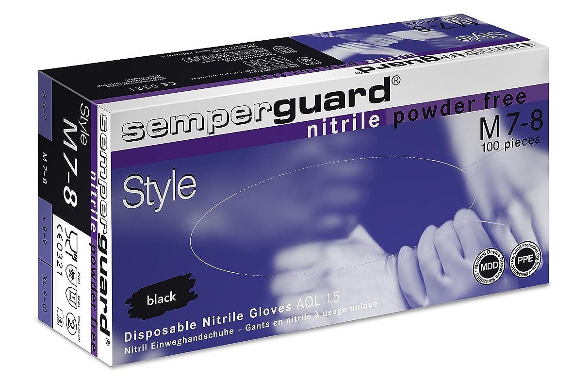 衰えるエンディング会計士エバーメイト センパーガード ニトリルブラックグローブ ブラック M(7.0?7.5インチ)甲幅9cm 100枚入