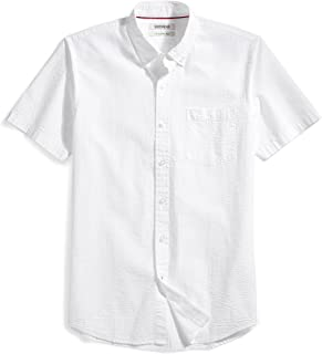 Amazon Brand - Goodthreads Men's Slim-Fit Short-Sleeve Seersucker Shirt