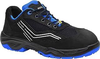 Obuwie ochronne ELTEN AMBITION blue Low ESD S1, męskie, sportowe, lekkie, czarne/niebieskie, stalowe noski – rozmiar 36