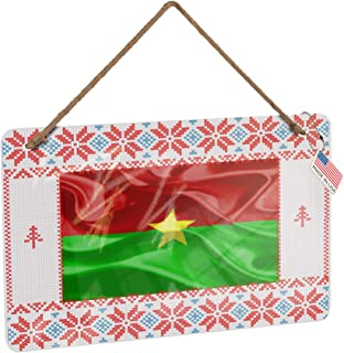 NEONBLOND Metal Sign Burkina Faso 3D Flag Vintage Christmas Decoration