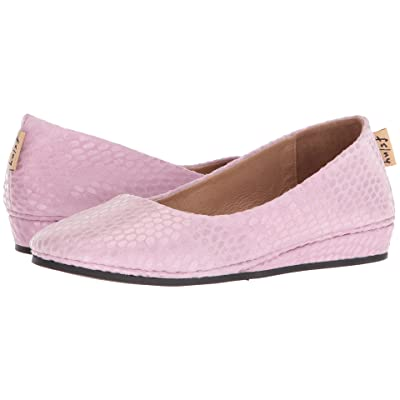 French Sole Zeppa Flat (Pink Julep Print) Women