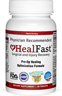 HealFast Surgery & Injury Recovery Supplement (Pre-Op): Supports Pre Surgery Optimization - for Wound Healing, Pain Relief...