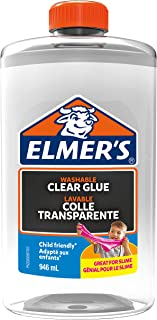 Elmer's Clear PVA Glue, Washable & Child Friendly, 946 mL– Great for Making Slime